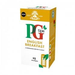 PG tips 6 x 25 English Breakfast Tea Enveloped Bags